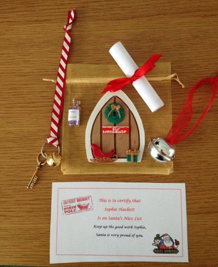 Christmas elf door gift bag available from my misi store for Tooth fairy door ideas