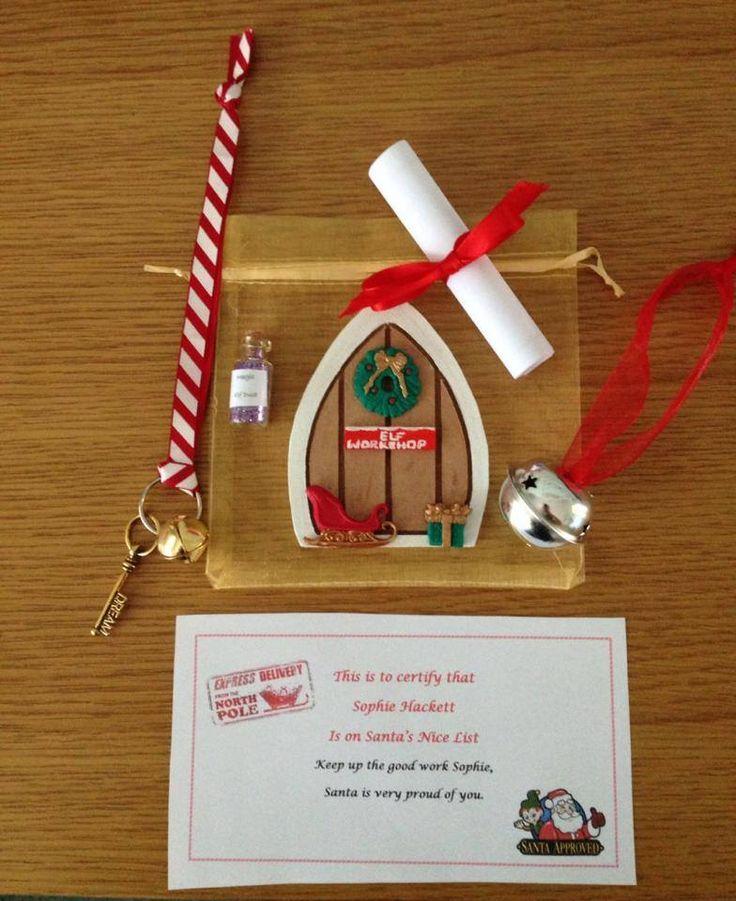 Christmas elf door gift bag available from my misi store for Elf door ideas