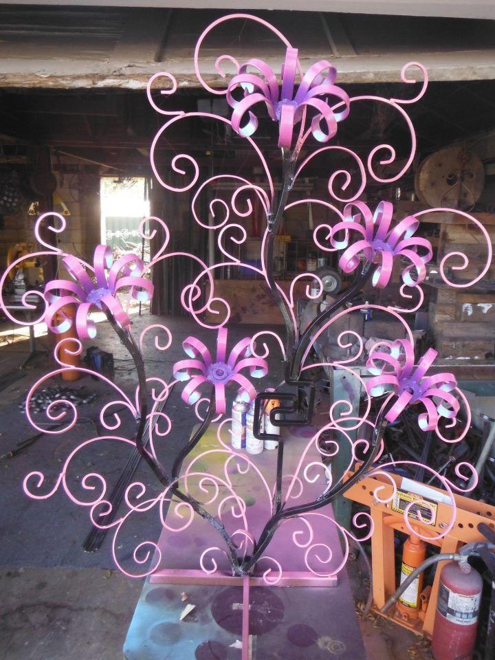 Steel Flower Sculpture Graydie Welding Pinterest