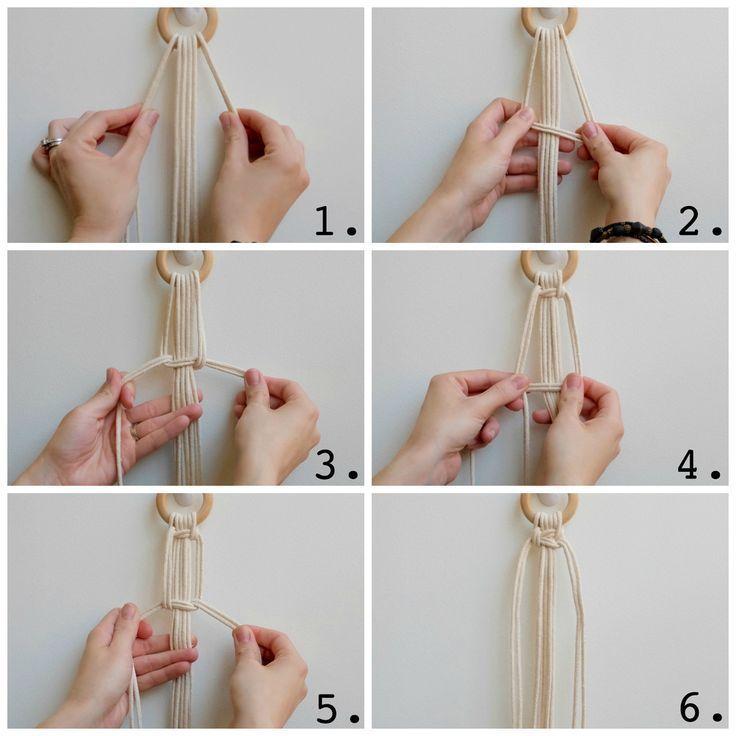 Apotelesma Eikonas Gia Boho Macrame Plant Hanger Weaving Tutorial Macrame Plant Hanger Patterns Diy Plant Hanger Rope Plant Hanger