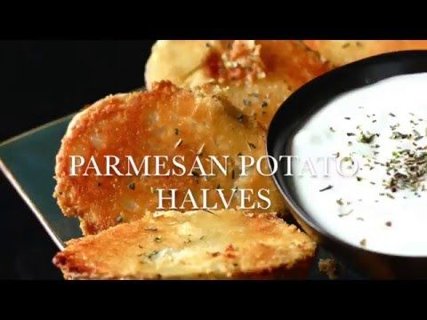 Parmesan Baked Potato Halves -Favorite Family Recipes