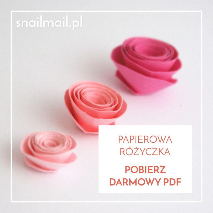 pobierz-darmowy-pdf-papierowa-rozyczka papierowe różyczki diy tutorial darmowy pdf   how to make paper roses