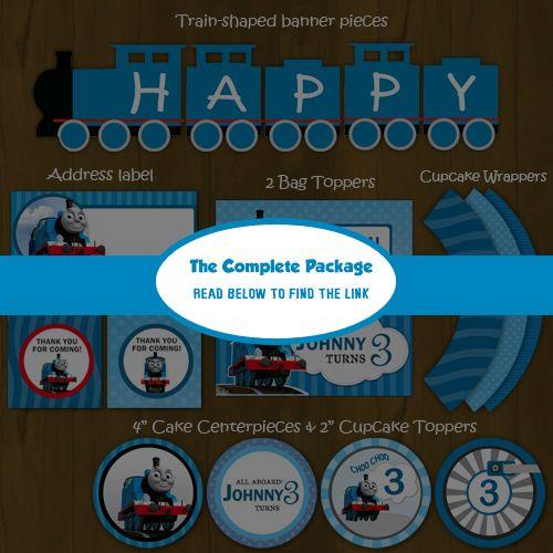 Thomas Train Ticket - Printable Birthday Ticket Invitation Card DIY