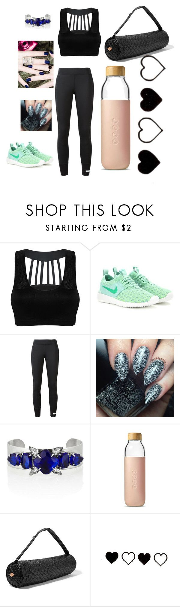 """Hopeful"" by gabrielle1000love ❤ liked on Polyvore featuring NIKE, adidas, Noir Jewelry, Soma and M Z Wallace"