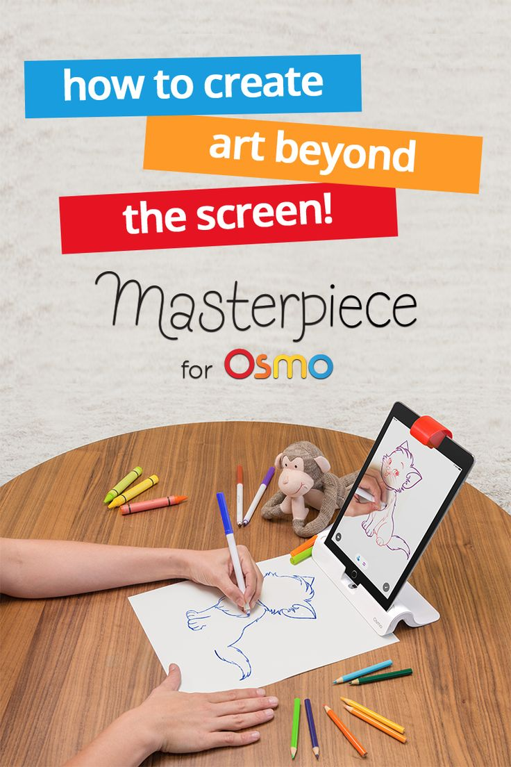 The sky's the limit with Osmo's Masterpiece. Take a picture of anything you want and Osmo's iPad technology transforms it into simple outlines so any child has the chance to be an artist. Supercharge your child's drawing skills today.
