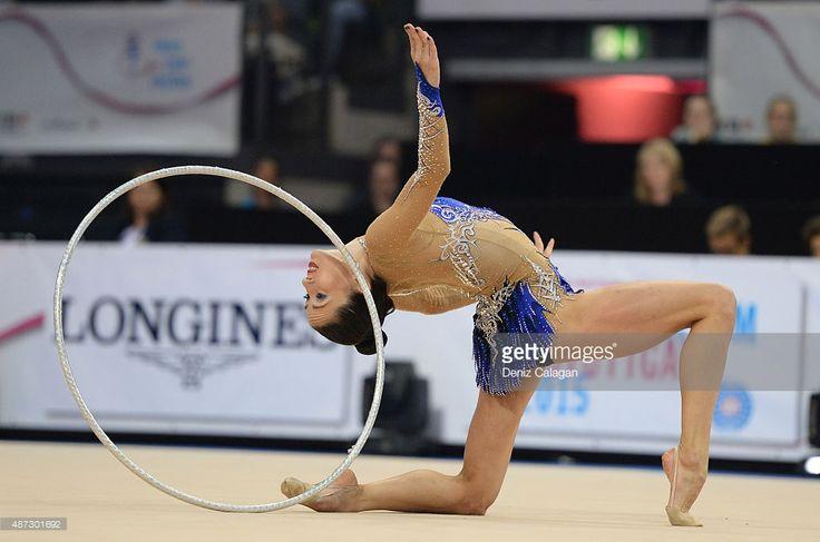 Neta Rivkin of Israel competes during the 34th Rhythmic Gymnastics World Championships on September 8, 2015 in Stuttgart, Germany.