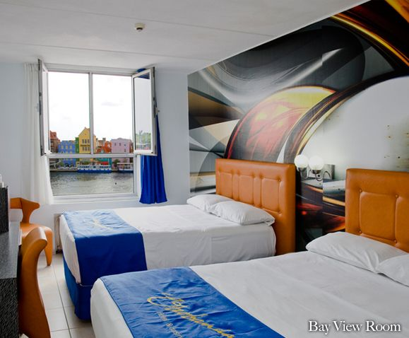 Bayview room. Otrobandahotel.com, small boutique hotel in curacao, willemstad