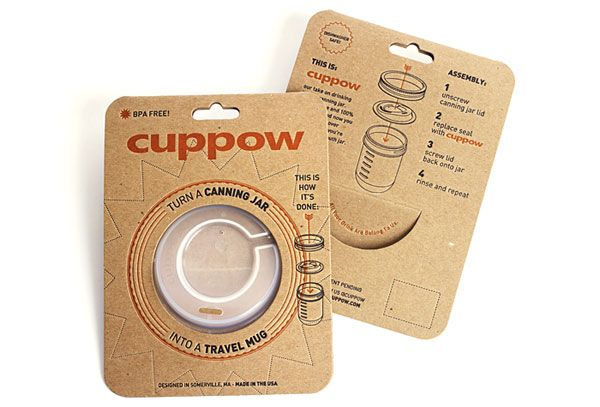 Cuppow packaging #LetterpressLovely Package Cuppow2, Design Inspiration, Cuppow Packaging, Cuppow Cuppowcom, Canning Jars, Cuppow Com, Packaging Design, Mason Jars, Travel Cups