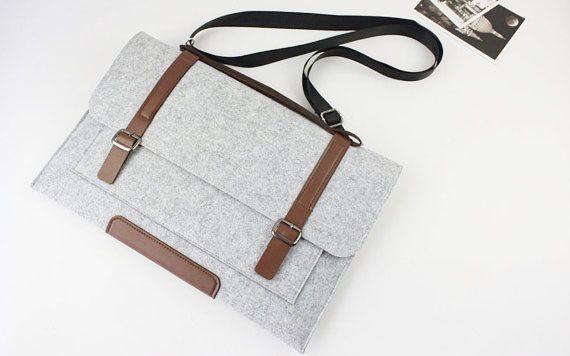felt 13 inch Macbook Pro sleeve Macbook 13 sleeve by FeltSJie