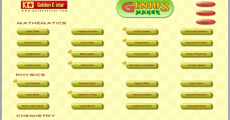 To Genius Maker είναι το πολυβραβευμένο λογισμικό για μαθηματικά και γενικά τις θετικές επιστήμες για τους φοιτητές. Είναι ειδικά σχεδιασμένο για να βοηθήσει τους μαθητές γυμνασίου σε θέματα των μαθηματικών φυσικής και χημείας. Είναι ένα απαραίτητο εργαλείο για την προετοιμασία των εργασιών στο σπίτι καθώς και τις εξετάσεις για όλους τους μαθητές έχει σχεδιαστεί από ταλαντούχους δασκάλους και επαγγελματίες προγραμματιστές. Είναι σχεδιασμένο με τέτοιο τρόπο ώστε οι φοιτητές να μπορούν…