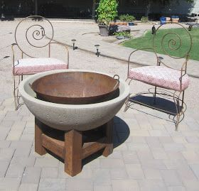 *used a large wok from a restaurant supply store  Ink Rust and Sawdust: DIY FIre Pit