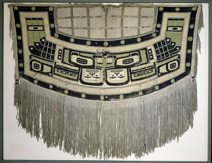 Ravenstail/Chilkat transitional blanket by a Tsimshian artist, 1800-1820. Portland Art Museum. @briarpatched