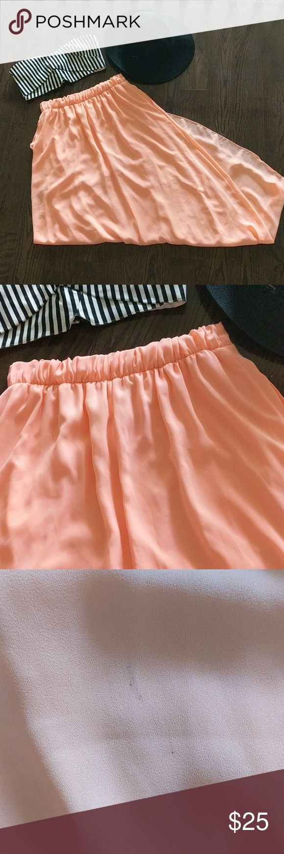 Selling this Boutique Neon Coral Maxi Skirt on Poshmark! My username is: aed10e. #shopmycloset #poshmark #fashion #shopping #style #forsale #Dresses & Skirts