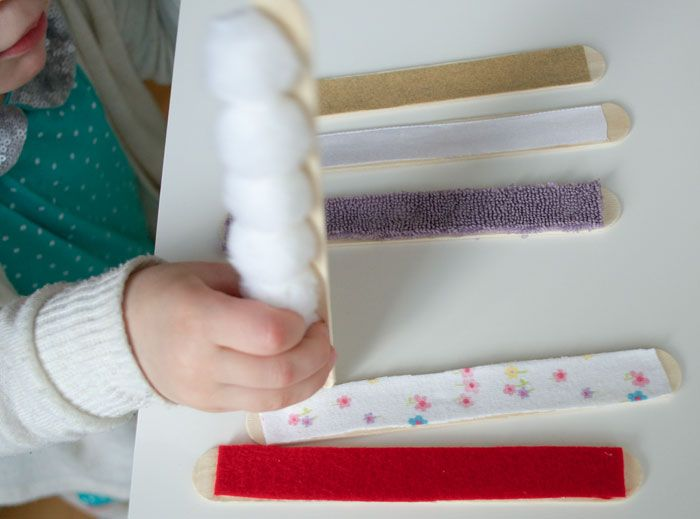 Sensory play is vital to early childhood development, create a handful of touch and feel sensory sticks in under 20 minutes and for less than a few dollars.