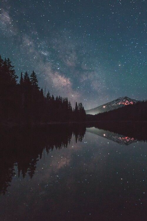 Stary night reflection