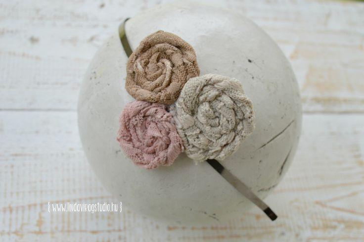 #women #lace #pastel #headband #handmade #rosette