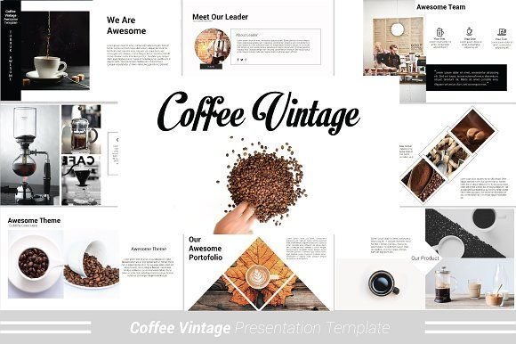Coffee Vintage Powerpoint Template Presentation Templates Presentation Presentation Design Template
