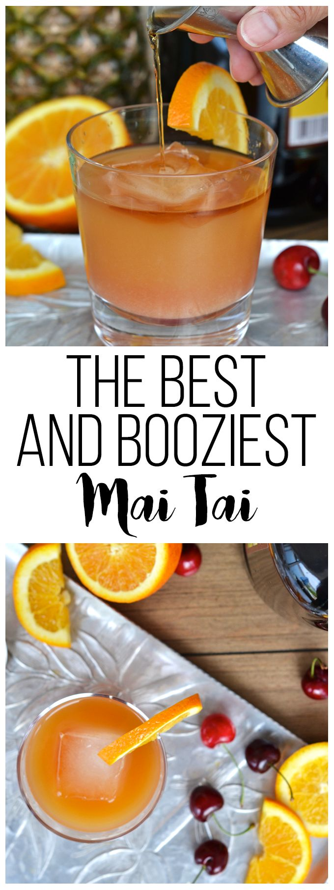 The best and booziest mai tai ever!! Perfect tropical summer cocktail!