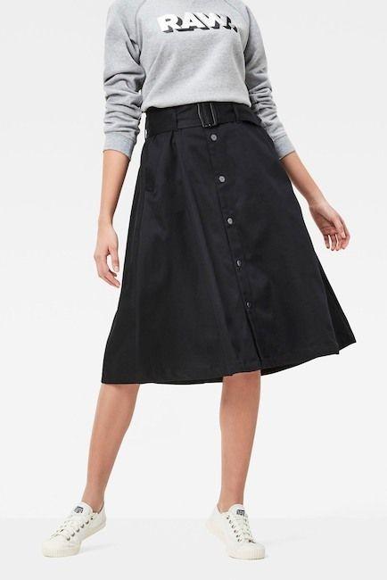 G Star Bronson Paperbag Waist Skirt