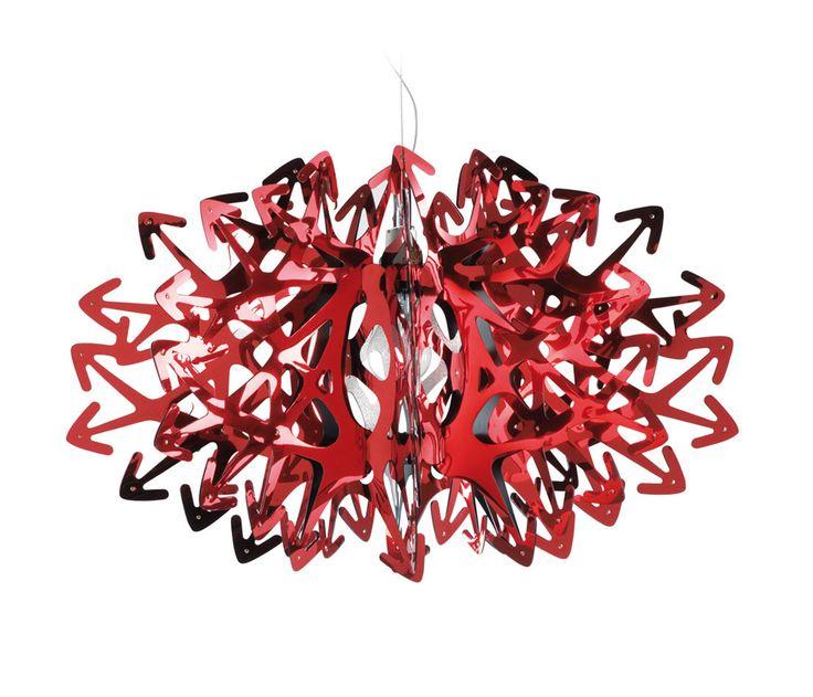 Pendant Lamp Devil designed by Nigel Coates for Slamp in 2007 | #lightening #designbest #red |