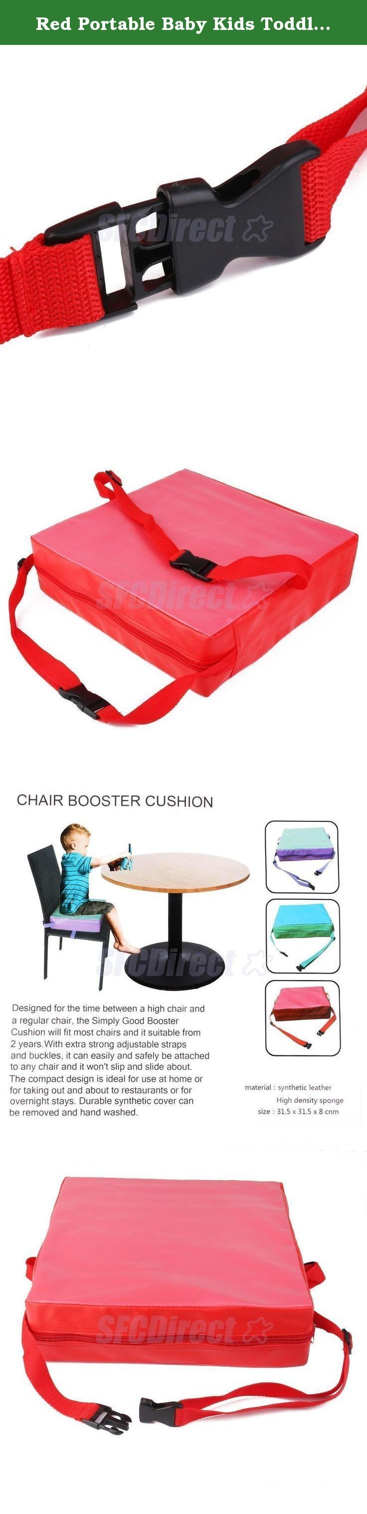 Red Portable Baby Kids Toddler Feeding High Chair Booster Seat Pad Dining Cushion. Life baby sitting in the chair to eat, because the body is not enough Gao, very convenient, even bought a special chair baby, but once their children grow up, they can not be used, and this time, we can help cushion this increase Gao to your baby, you can adjust the tightness to be split out sponge to clean and waterproof synthetic leather, food accidentally fell engage in dirty, as long as a wet paper…