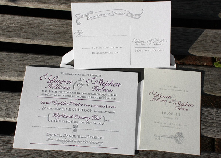 44 best Romantic Wedding Invitations images on Pinterest