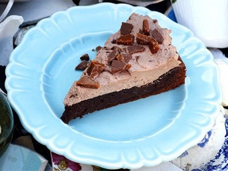 The world's most delicious chocolate cake with daimcream