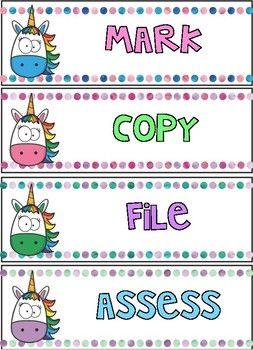 FREE Super Cute Unicorn Drawer Labels!