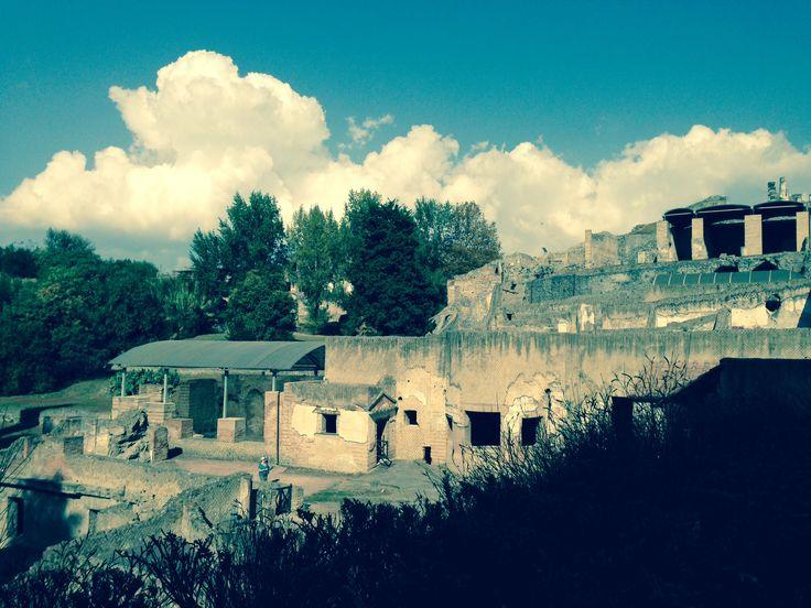 Part of Pompei , Italy