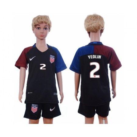 USA Trøje Børn 2016 #Yedlin 2 Udebanetrøje Kort ærmer.199,62KR.shirtshopservice@gmail.com
