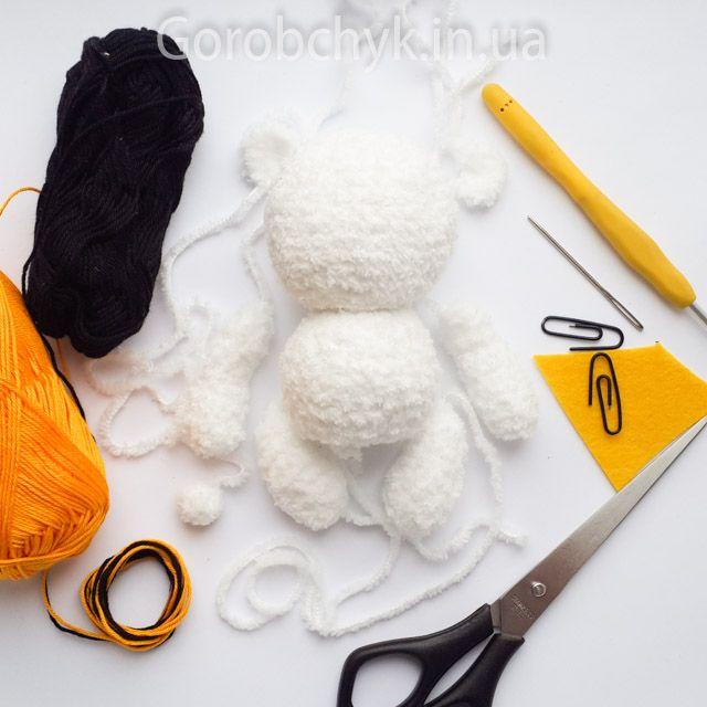 Мастер класс по вязанию медведя крючком.