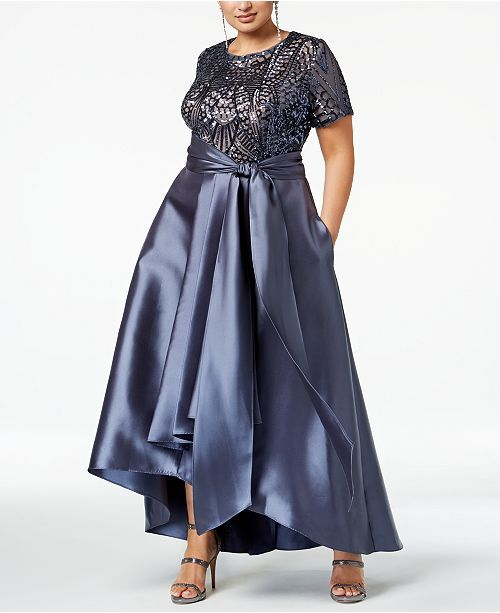Plus Size High-Low Gown in 2019 | Jackie\'s wedding day | Plus size ...