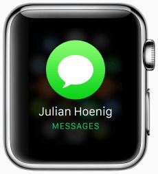 Loading messages screen for apple watc (?)