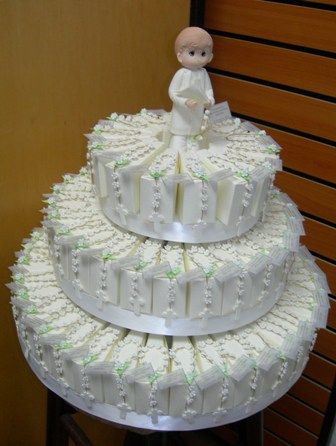 Image detail for -first communion favors boy first communion centerpiece cake with ...