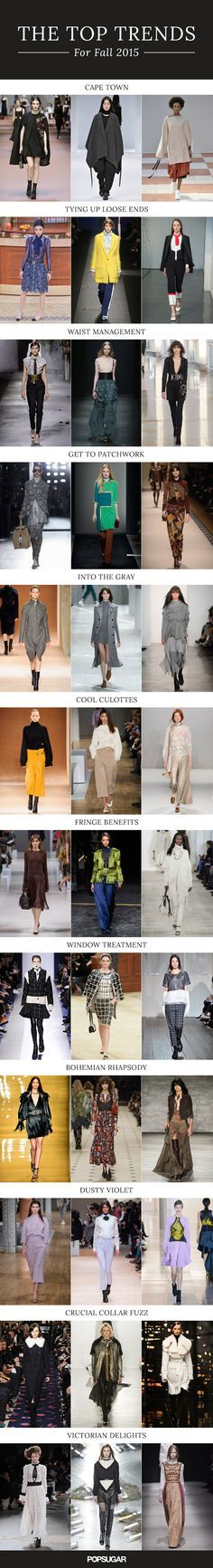 Get ready for next season now with the top fashion trends for fall 2015!