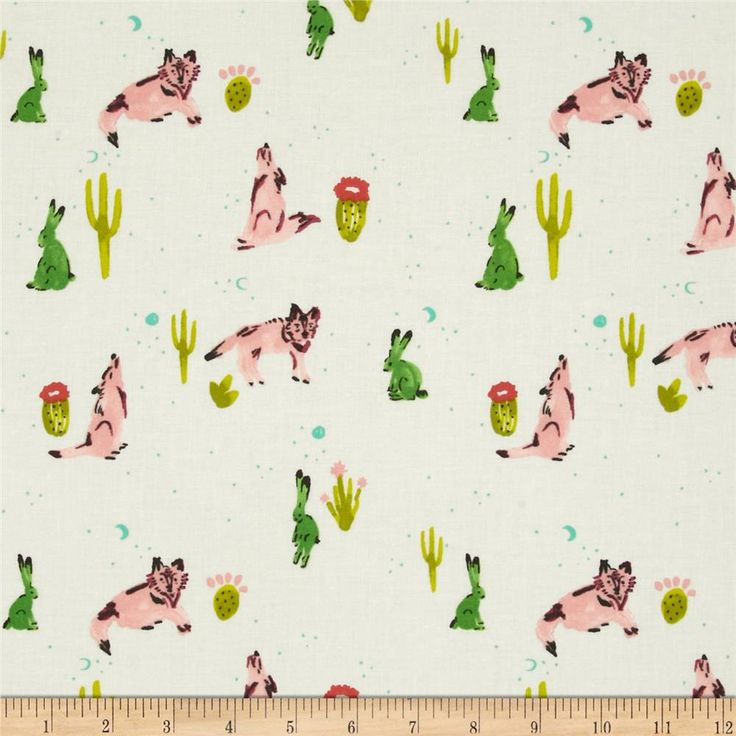 FABRIC | Cotton & Steel Mesa Spirit Animal Cream | sold by the Fat Quarter by SUPERPOWERGARAGESALE on Etsy