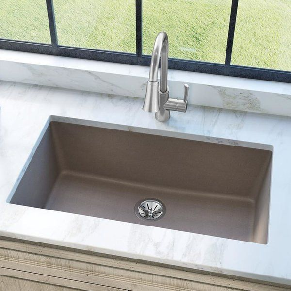 Quartz Classic 33 L X 18 W Undermount Kitchen Sink Undermount Kitchen Sinks Single Bowl Kitchen Sink Sink