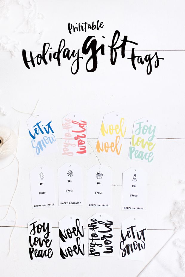 printable holiday gift tags, gift guide 2014, what should I get my girlfriend for christmas?, free printable gift tags, gift giving tips, christmas gift tags