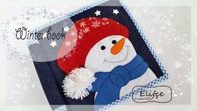 Мастерская Elifçe : МК снеговик. Free pattern snowmen for quitebook 20x20sm