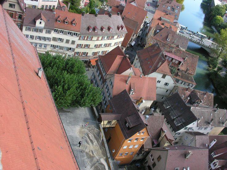 Einer der romantischsten Leseorte beim Tübinger Bücherfest: der Platz hinter der Stiftskirche.