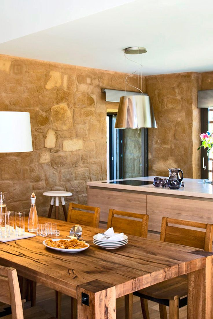 The lovely dining area of Conte Marino Villas in Maleme, Chania. To explore more villas visit our site TheHotel.gr #crete #interior #travel #TheHotelgr