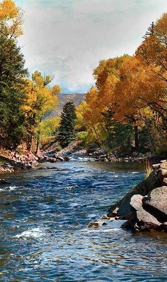 Roaring Fork River near Aspen, Colorado • Rocky Mountain Photography