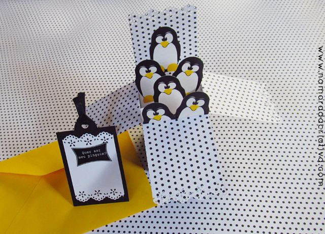 DIY: Cartão/caixa dos pinguins para o dia dos namorados