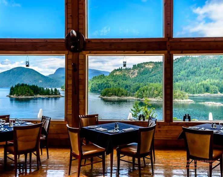 Many years ago, I helped a friend design West Coast Wilderness Lodge on British Columbia's west coast...view from restaurant  For more photos or this or any other or my homes, please check out my website, www.designma.com, my Design Page, www.facebook.com/loghomedesign  ‪#‎timberframe‬ ‪#‎loghomes‬ ‪#‎loghomedesign‬ ‪#‎timber‬