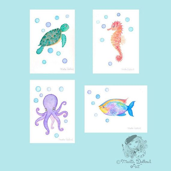 Under the sea nursery art. Under the Sea art set. by MartaDalloul
