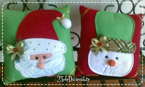 Cojines navideños en fieltro
