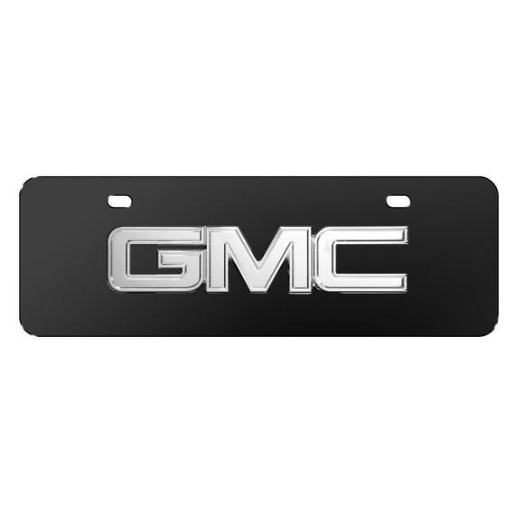 Gmc 3d Chrome Metal Logo Black 12 X4 Half Size Stainless Steel License Plate In 2020 Metal Chrome European License Plates