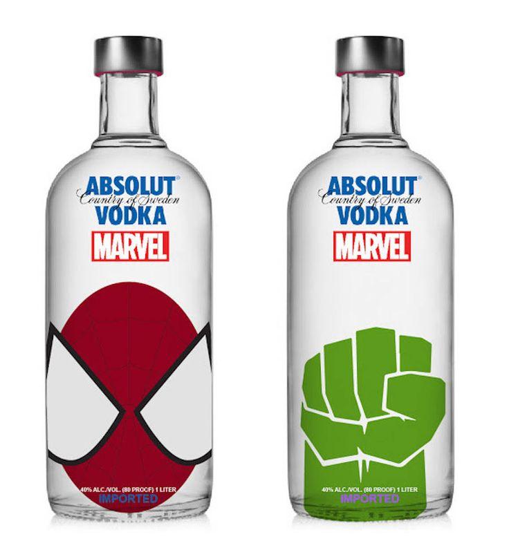 Marvel Absolut Vodka Redesign Concept