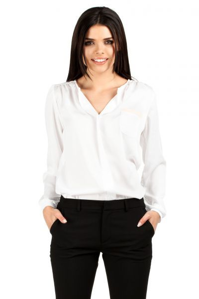 Półprzezroczysta bluzka z seksownym dekoltem
