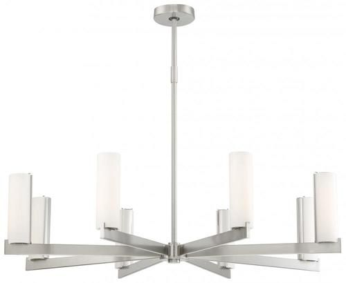 George Kovacs Lighting P1858-084-L Tube LED Chandelier, Brushed Nickel